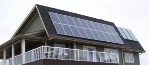 Solar Power on House Roof
