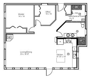 Rural Retreat Main Floor