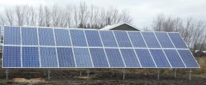 Solar panels on a Groundmount