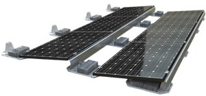 Ballasted Solar Mount for a flat roof