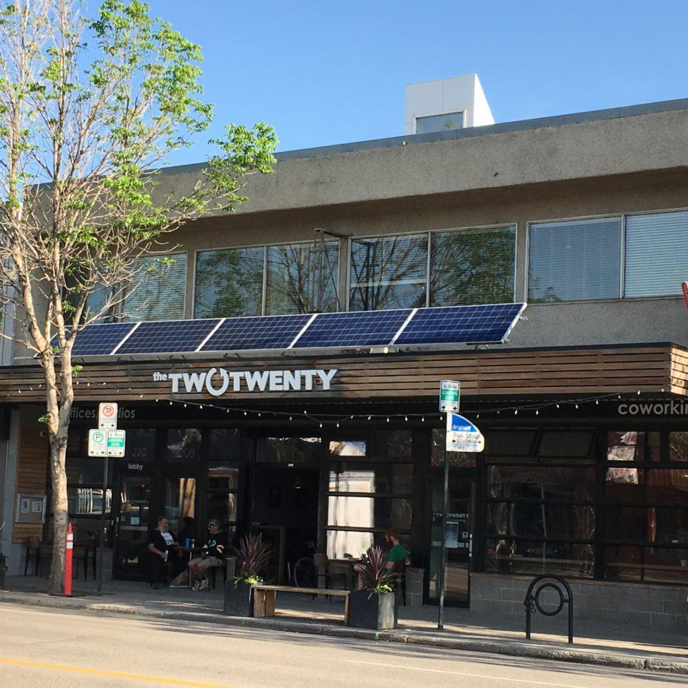Two Twenty solar awning mount