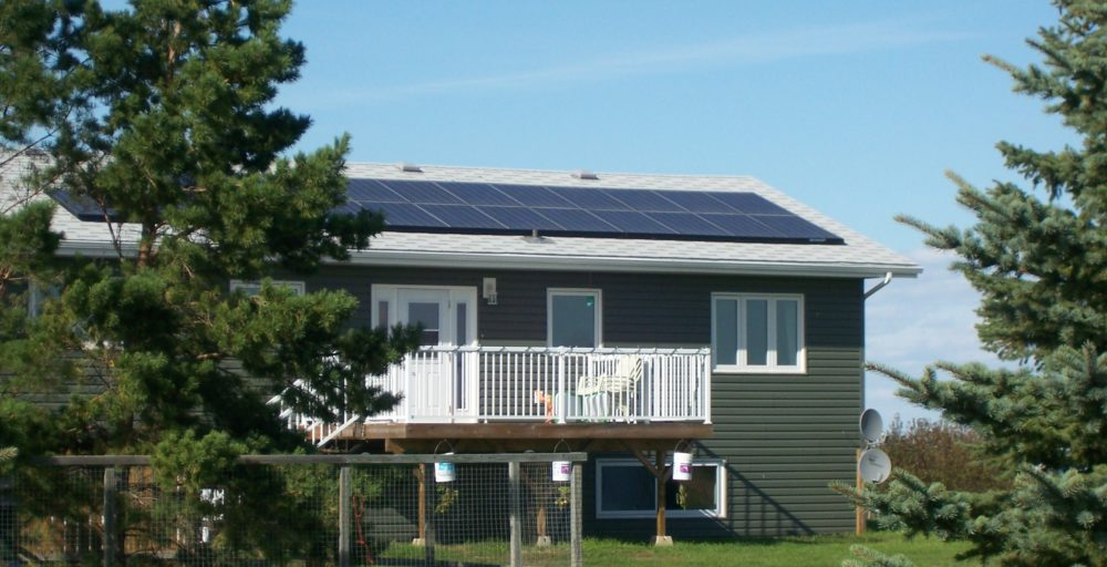 Suncatcher Solar on house with geothermal